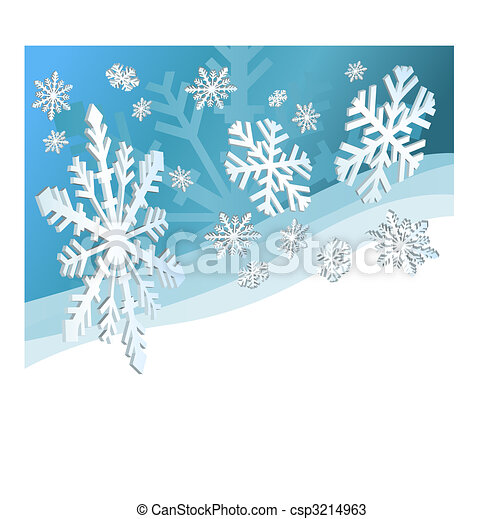 Snow Flakes - csp3214963