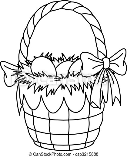 Easter Basket coloring page - csp3215888