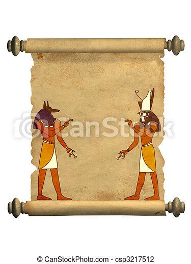 Anubis and Horus - csp3217512