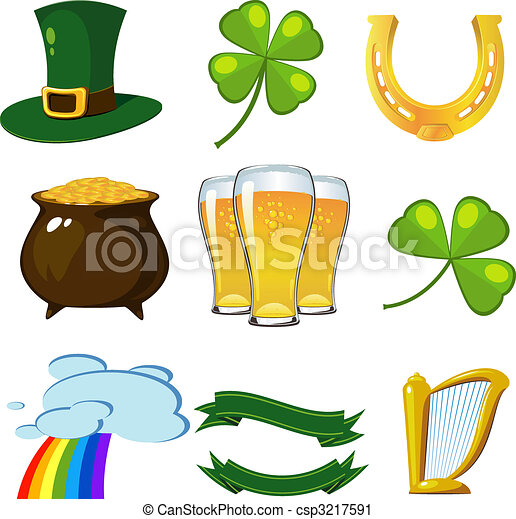 St. Patricks Day set - csp3217591