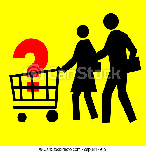 Stock Illustration of Consumer Basket - Consumer basket ...