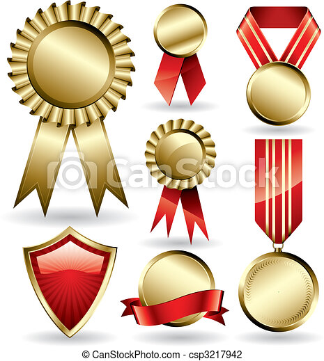 Award ribbons - csp3217942