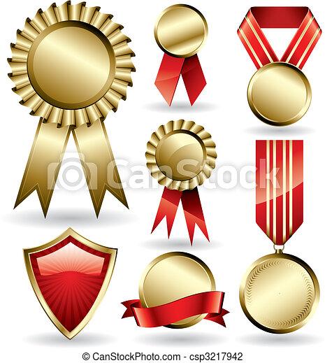 Award ribbons - csp3217942