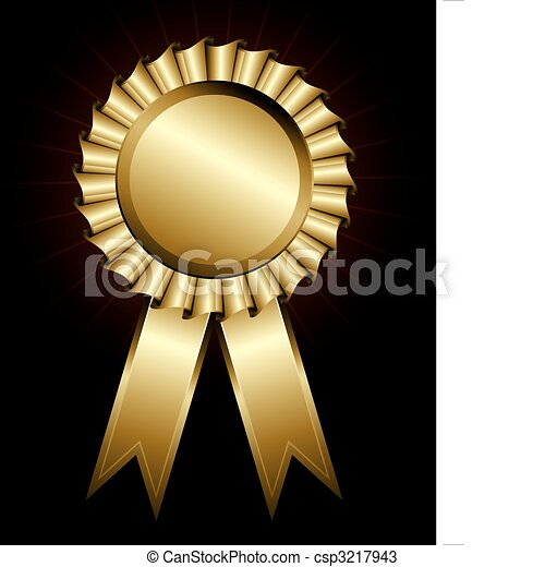 Golden award ribbon - csp3217943