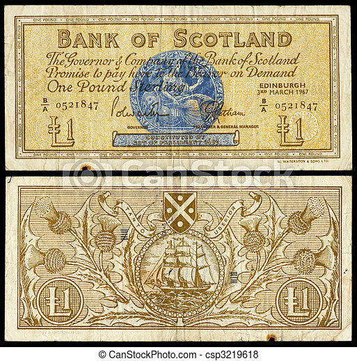 Old Bank Notes Old Scottish Bank Note