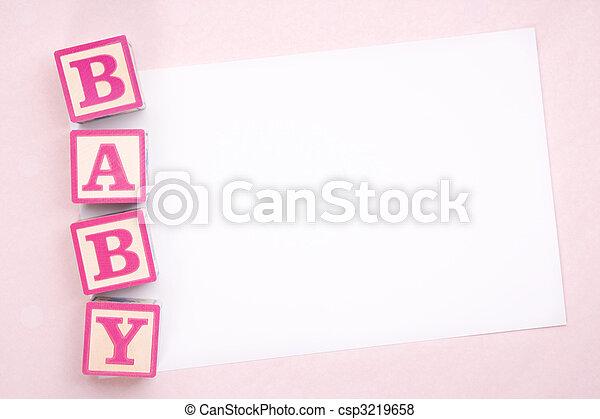 Blank baby announcement - csp3219658