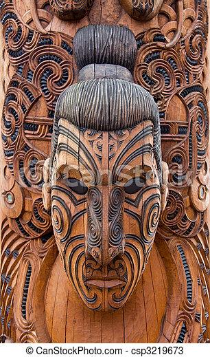 Maori carving - csp3219673