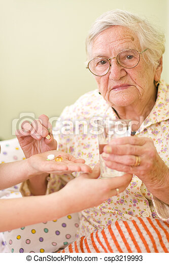 Medications for an old woman - csp3219993
