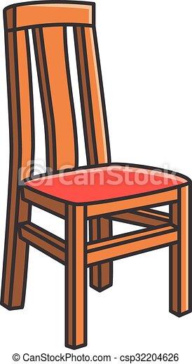 vector illustration of dining room chair vector cartoon