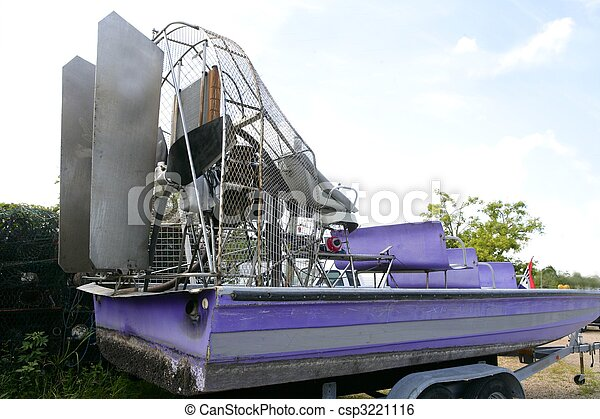 Everglades Airboat In South Florida, National... Stock Image - Instant Download - csp3221116
