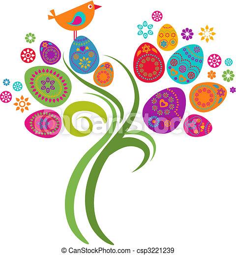 Easter tree - csp3221239