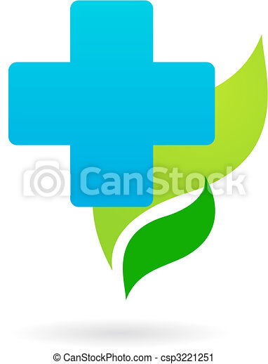 Medical icon - blue cross - csp3221251