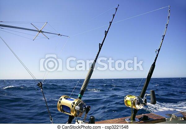 Angler boat big game fishing in saltwater - csp3221548