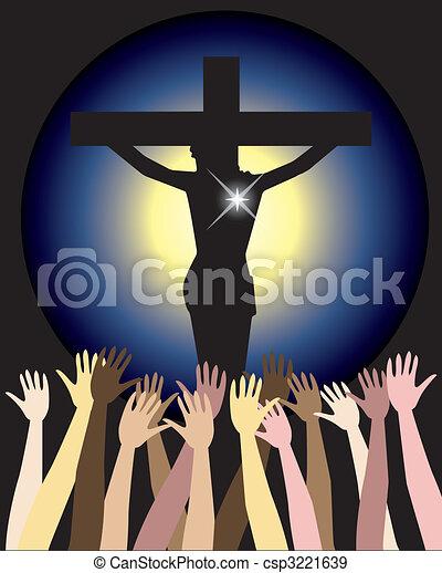 Power of Jesus Christ Easter - csp3221639