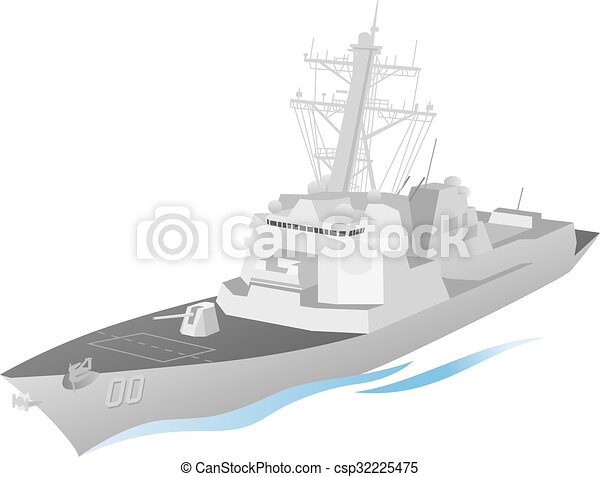 Vectors Illustration of Naval Ship Vector - Simple and clean ...