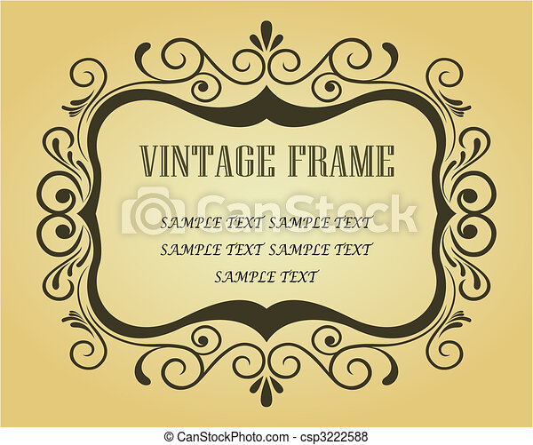 Vintage frame for design - csp3222588