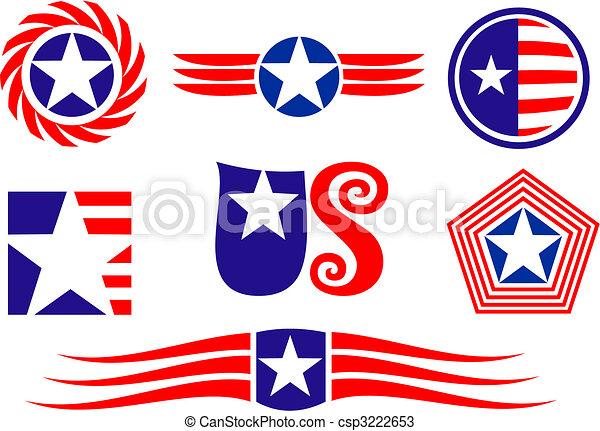 American patriotic symbols - csp3222653