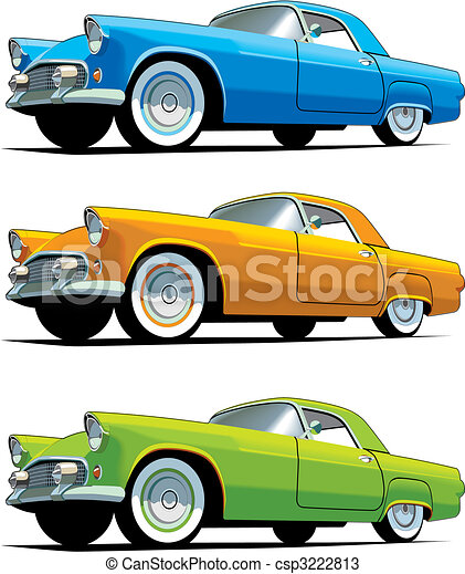 American old-fashioned car - csp3222813