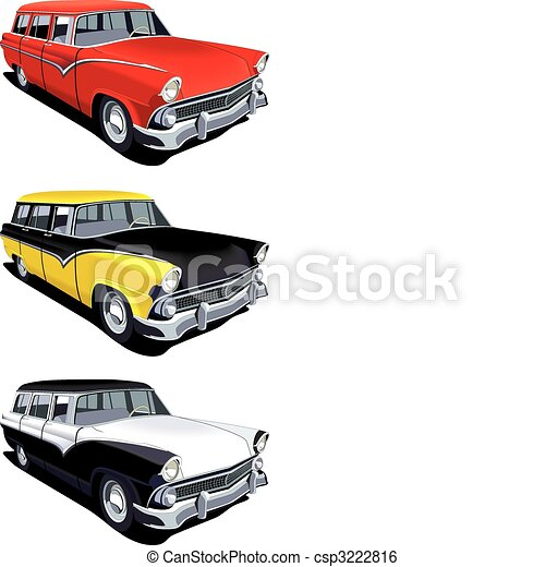 American retro station wagon - csp3222816