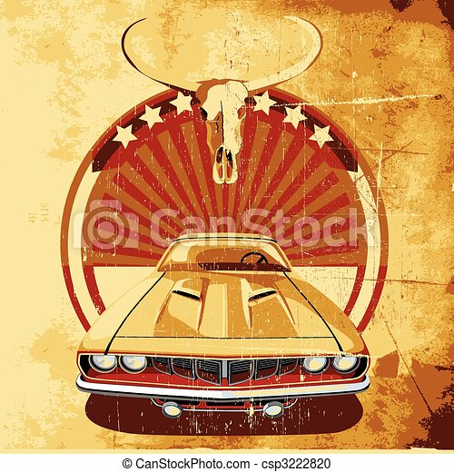 American Style Poster II - csp3222820