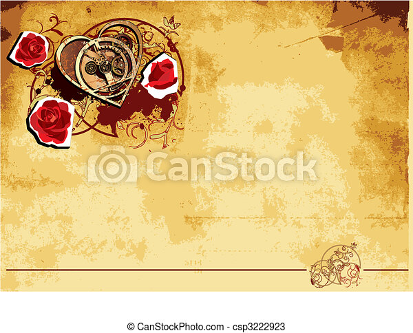 Mechanical Heart backround - csp3222923