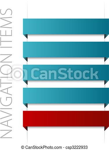 modern blue navigation items - csp3222933