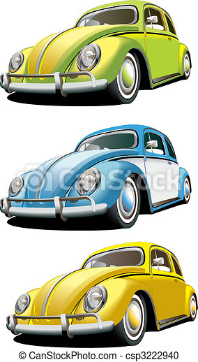 Old-fashioned car set - csp3222940