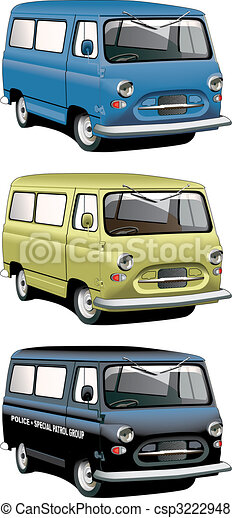old-fashioned van set - csp3222948