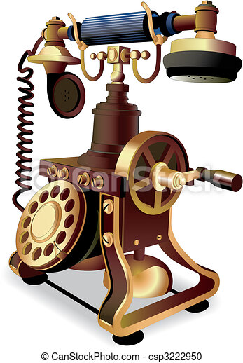 Old-style telephone - csp3222950