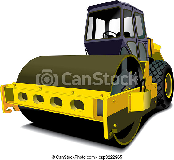 road roller - csp3222965