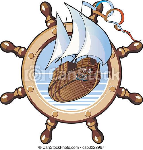 ship & wheel - csp3222967