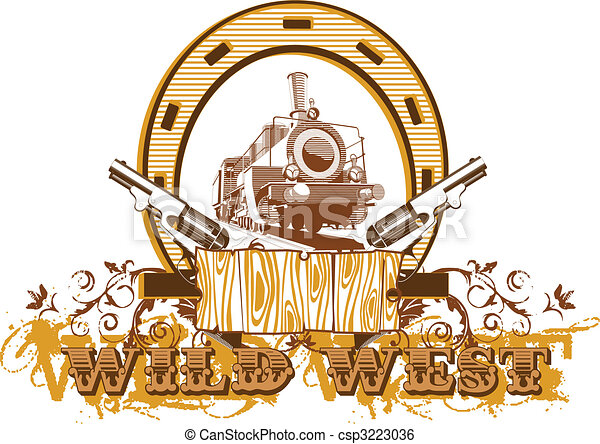 Wild West Vignette II - csp3223036