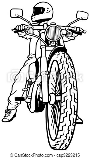 Motorcycle and Driver - csp3223215