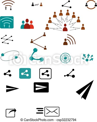 Sharing vector icons - csp32232794