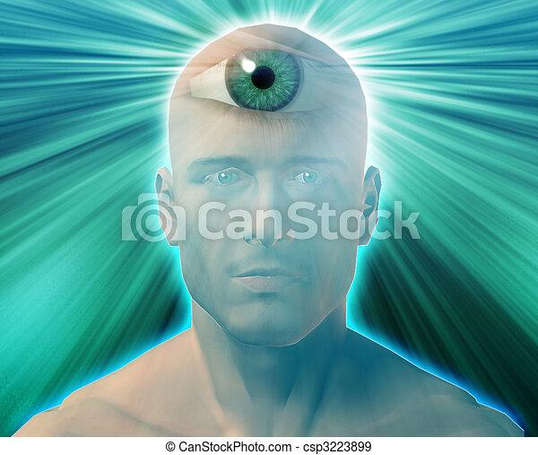 Stock Illustration Of Third Eye Man Man With Third Eye