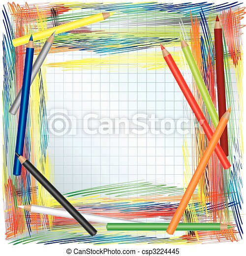 Color pencils background - csp3224445