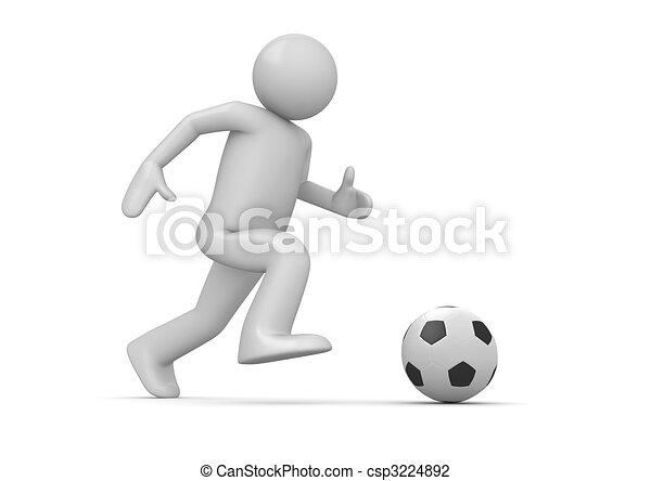 Soccer player - csp3224892