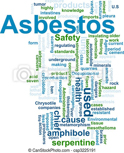 Asbestos word cloud - csp3225191