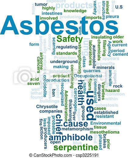 Asbestos word cloud - csp3225191