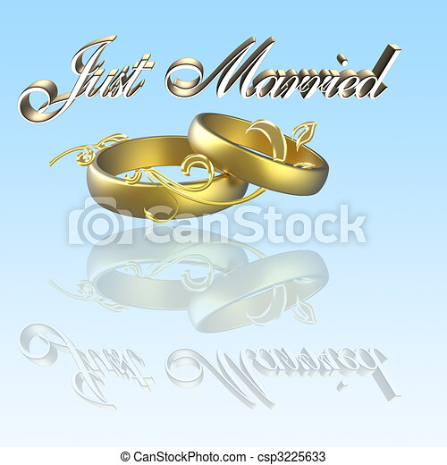 just married - csp3225633