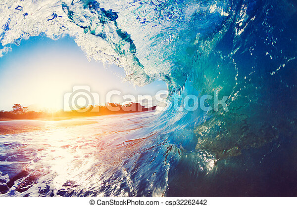 Oceaen Wave at Sunrise