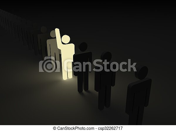 One man stood out from the crowd - csp32262717
