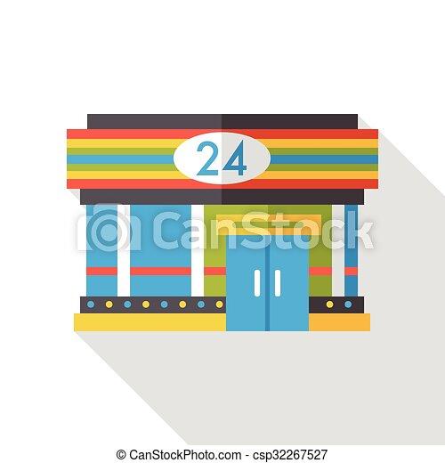 convenient store flat icon - csp32267527