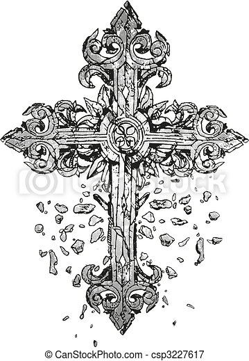 kors,  Illustration, klassisk - csp3227617