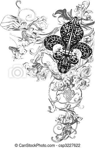 fleur de lis decoration - csp3227622