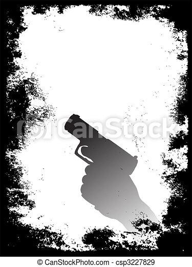 handgun silhouette - csp3227829