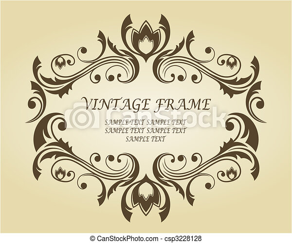 Vintage frame in victorian style - csp3228128