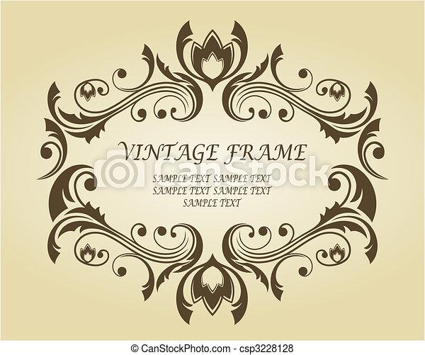 Vintage frame in victorian style - csp3228128