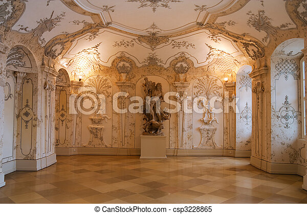 interior of the hof palace, austria - csp3228865