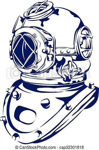 vector clip art of vintage diving helmet a vector based scuba clip art with transparent background scuba clip art images